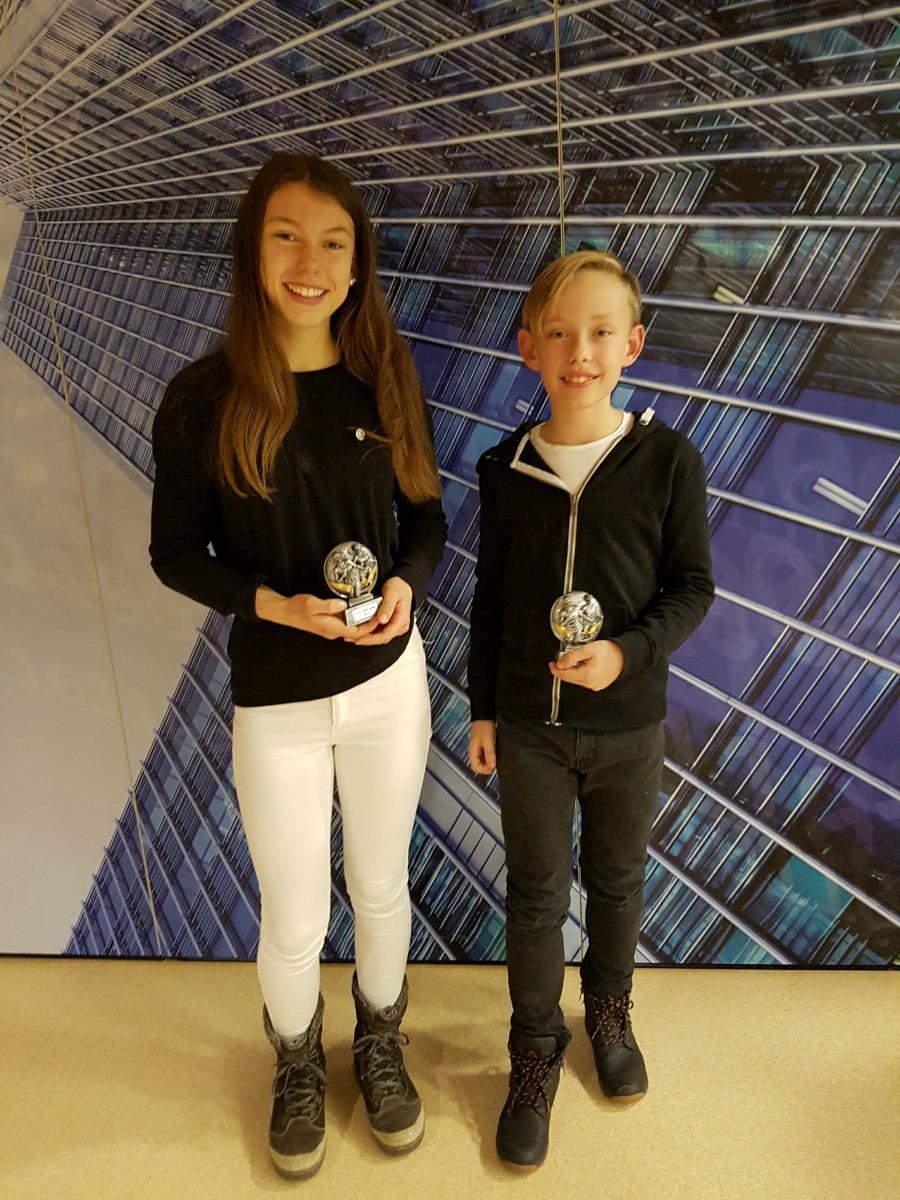 Årets RFIK Jente og RFIK Gutt: Hannah og Valentin