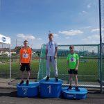 Leon og Kjetil på pallen etter 60 m debut