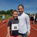 Wilma og Selma før 60 m debut